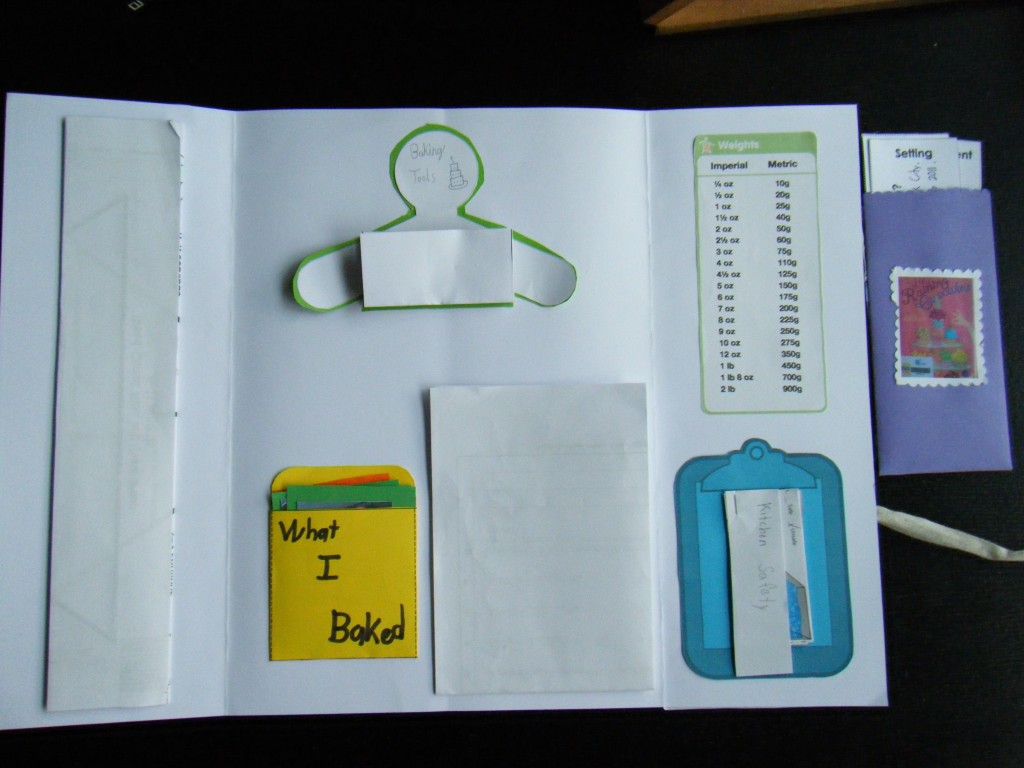 Kylie's baking lapbook-inside