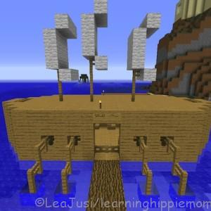 My son's Trireme Ship