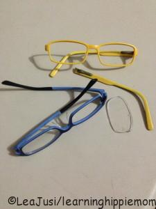 Broken Eyeglass Frames