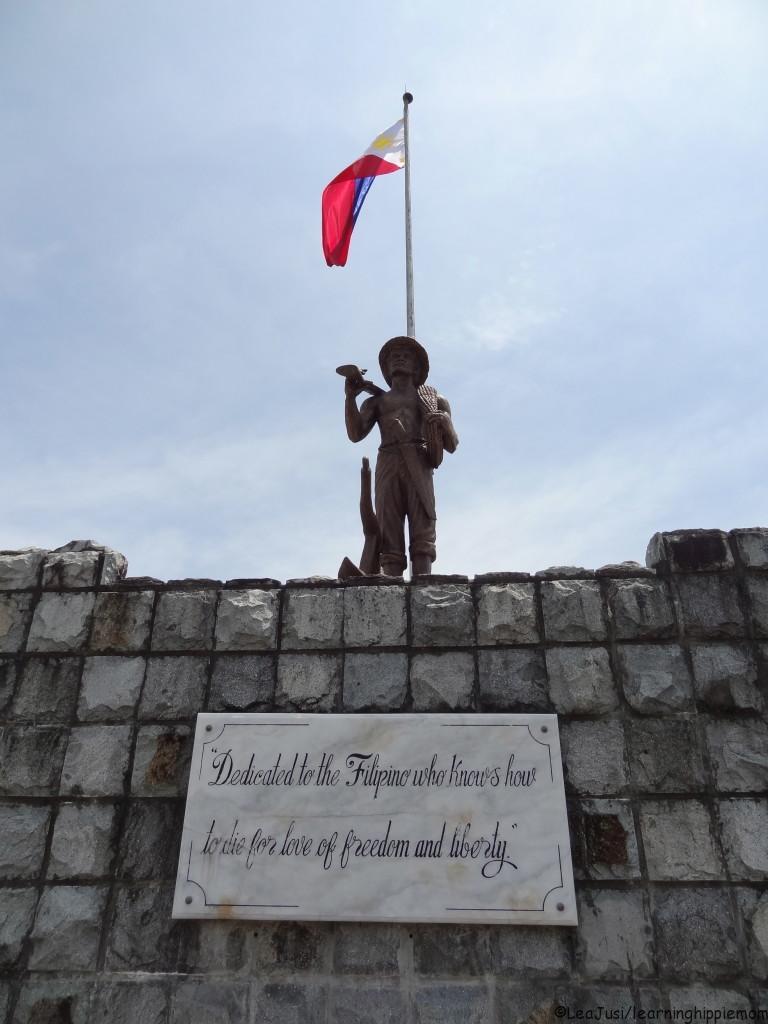 A memorial in Corregidor For the Fallen Filipinos