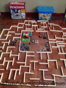Maze Runner with Keva Planks & Lego