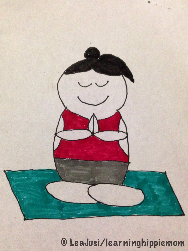 Yogi on a Mat drawing