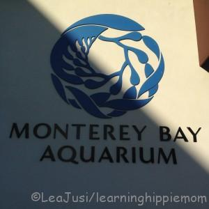 At the entrance to Monterey Bay Aquarium