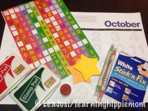 Craft materials for Christmas Calendar