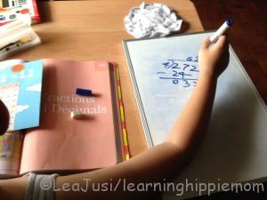 Homeschooling with Book and Whiteboard