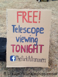 Free Telescope Viewing by The Park Astronomers